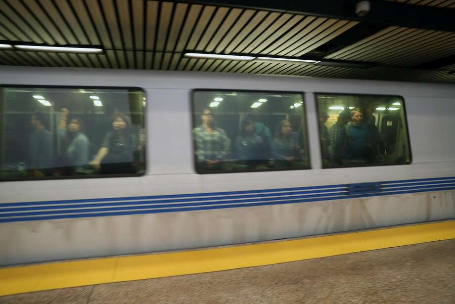 BART stopped all service early Monday afternoon between Lake Merritt and Fruitvale stations in Oakland after a person was struck by a train, authorities said. Photo: Scott Strazzante / The Chronicle