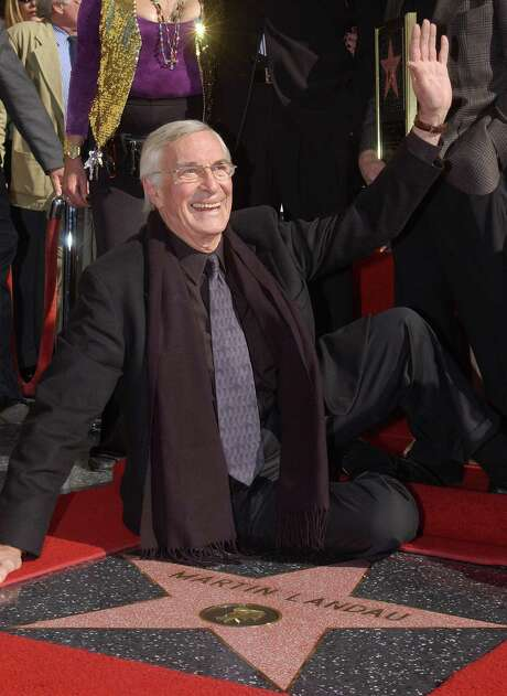 Martin Landau, who made over 90 films, was honored with a star on the Hollywood Walk of Fame in 2001. Photo: Vince Bucci, Stringer / Getty Images North America