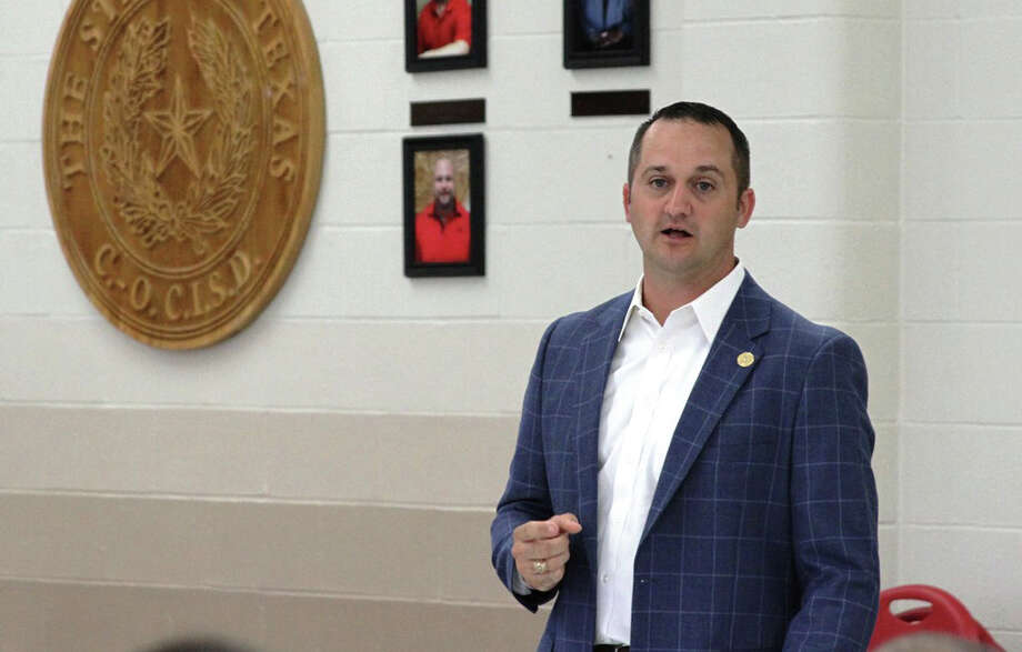 District 18 State Representative Ernest Bailes addressed San Jacinto County educators at COCISD's Jones Educational Complex on Thursday, July 17. Photo: Submitted