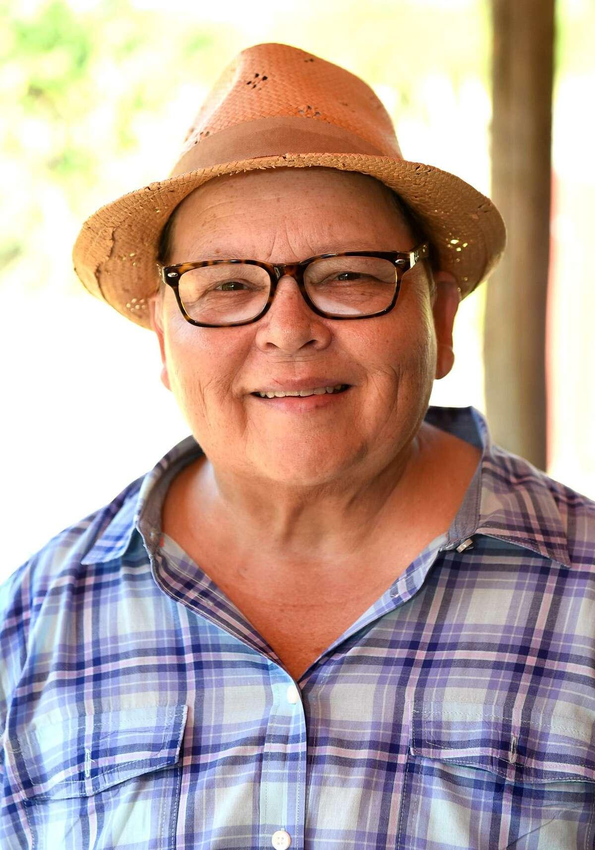 Meg Guerra poses for a headshot outside her ranch home in San Ygnacio, Texas on Tuesday, June 27, 2017.