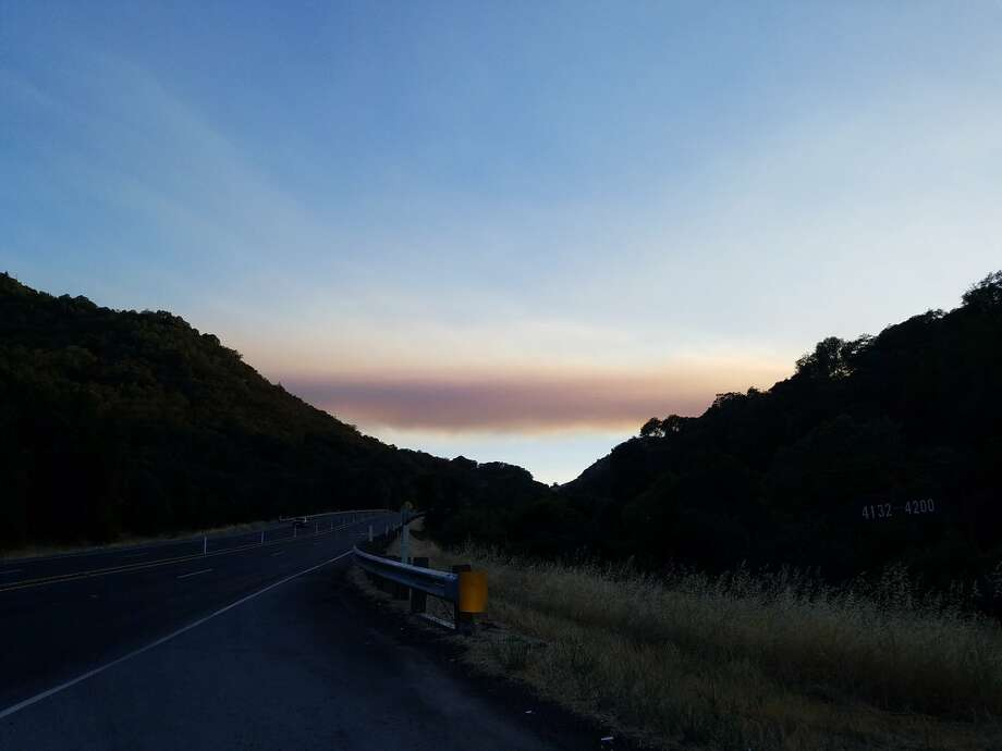 A fire in Mendocino County has grown to 900 acres, causing evacuations in the Baker Creek Subdivision, according to the California Department of Forestry and Fire Protection. Photo: CalFire Mendocino/Twitter
