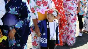 Scenes from the annual Bon Odori festival, Sunday, July 16, 2017 at the Seattle Buddhist Church.