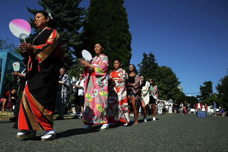 Scenes from the annual Bon Odori festival, Sunday, July 16, 2017 at the Seattle Buddhist Church. Photo: GENNA MARTIN, SEATTLEPI.COM / SEATTLEPI.COM