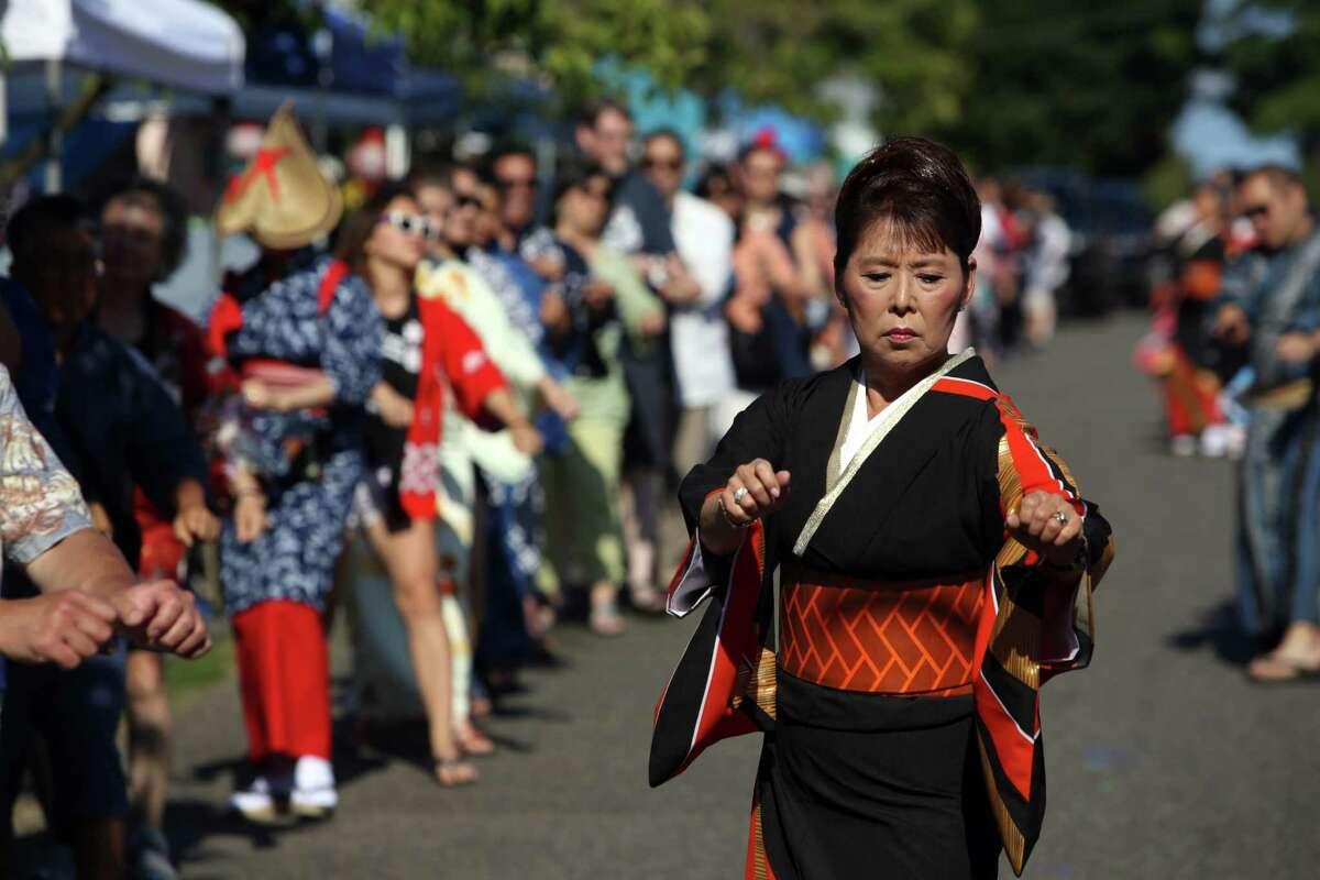 Scenes from the annual Bon Odori festival, Sunday, July 16, 2017 at the Seattle Buddhist Church.