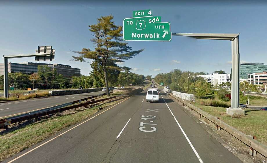 Maintenance work on a Merritt Parkway bridge around Route 7 will mean a week of nighttime lane closures. The state Department of Transportation says the lane closures will be in both directions of the parkway starting Thursday, July 20 and continuing through July 27, 2017. Photo: Google Street View