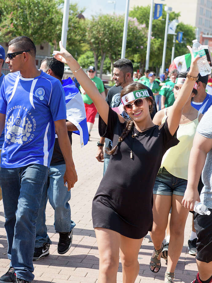 San Antonio's soccer community showed up to the Alamodome for a Sunday showdown between Mexico and Curacao on July 16, 2017. At the end of the day, Mexico beat Curacao 2-0 to win CONCACAF Group C. Photo: B. Kay Richter, For MySA.com