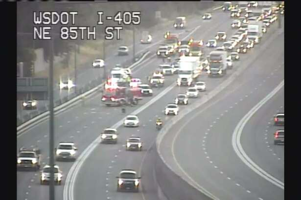"""Drivers along southbound I-405 were backed up Monday morning due to a possible """"car surfing"""" accident."""