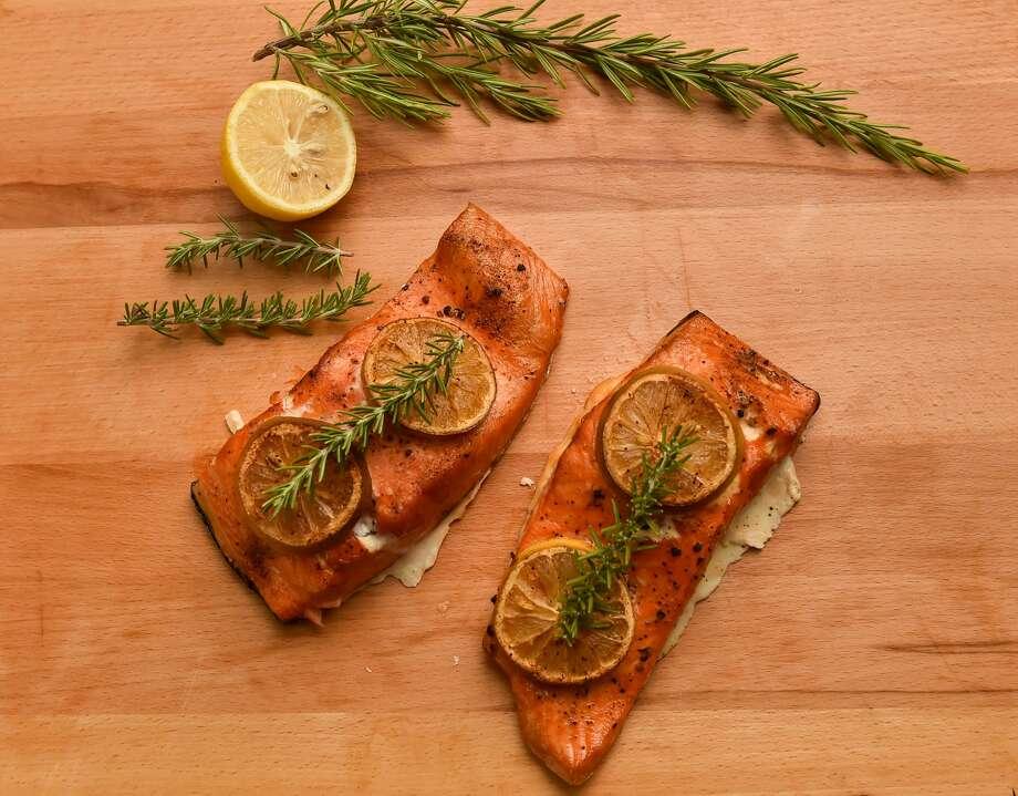 Smoked Salmon from Chuck Blounts Food Shack Photo: Robin Jerstad, Freelance / San Antonio Express News / ROBERT JERSTAD