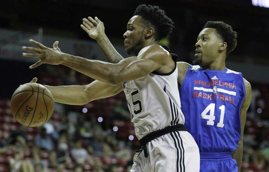 Jaron Blossomgame competes in the summer league. Photo: John Locher /Associated Press / Copyright 2017 The Associated Press. All rights reserved.