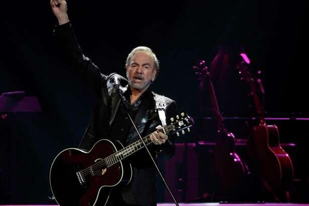 Neil Diamond performs at the Toyota Center Sunday, July 16, 2017, in Houston. ( Melissa Phillip / Houston Chronicle )