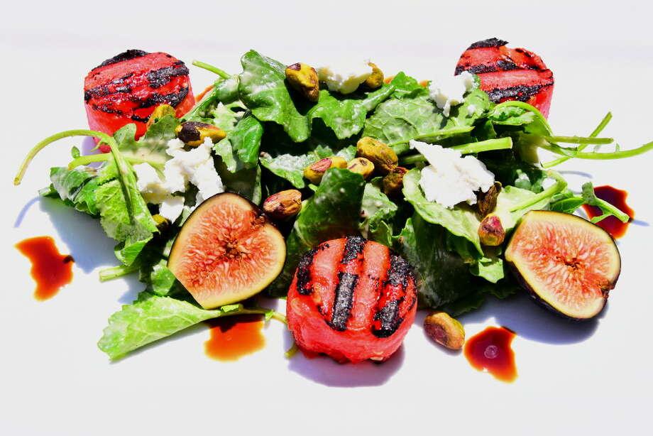 (Photo by Steve Barnes) Mio Posto's watermelon salad. Photo: Mio Posto