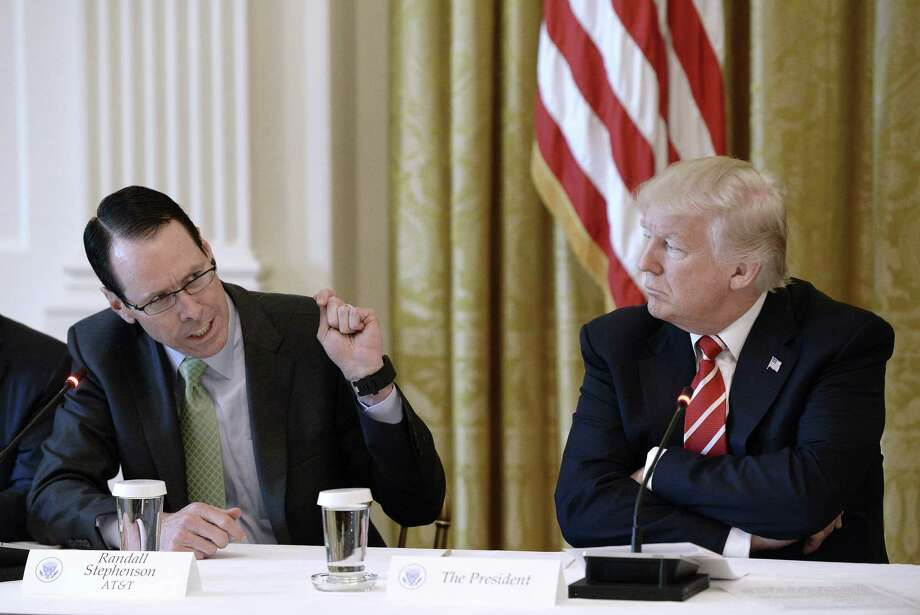 AT&T CEO Randall Stephenson is one of 14 Dallas-area CEOs who have come out against a proposed law to regulate transgender Texans' access to restrooms. Photo: Pool /Getty Images / 2017 Getty Images