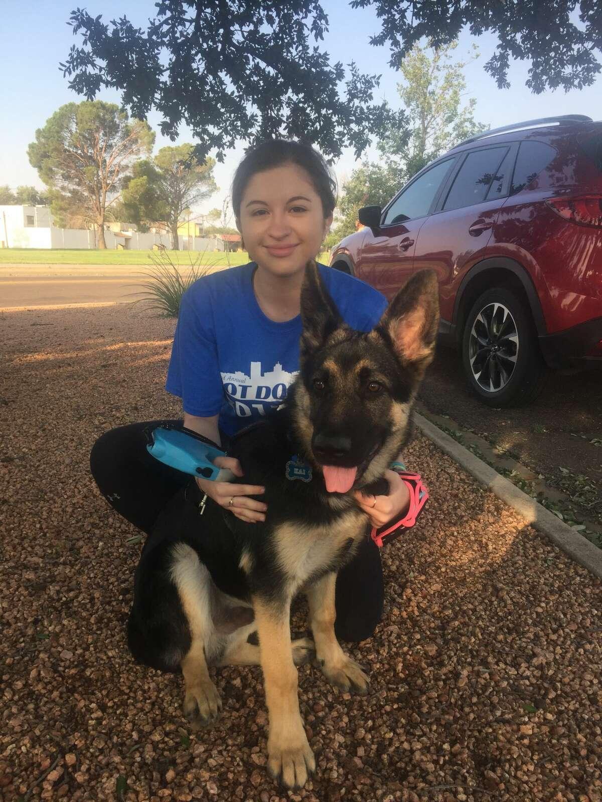 Hot Dog Run: Lucy Cervantes with Kai