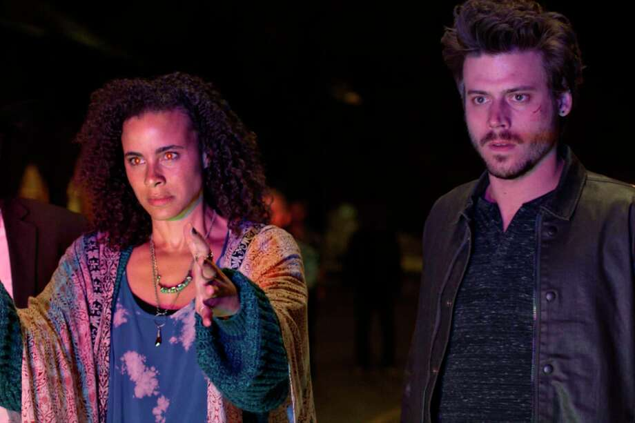 Parisa Fitz-Henley and Francois Arnaud, Midnight, Texas | Photo Credits: NBC / 2016 NBCUniversal Media, LLC