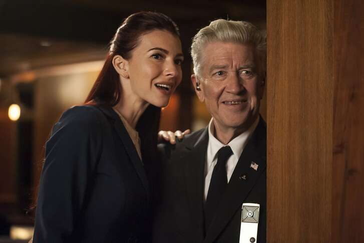 Chrysta Bell and David Lynch in a still from Twin Peaks.