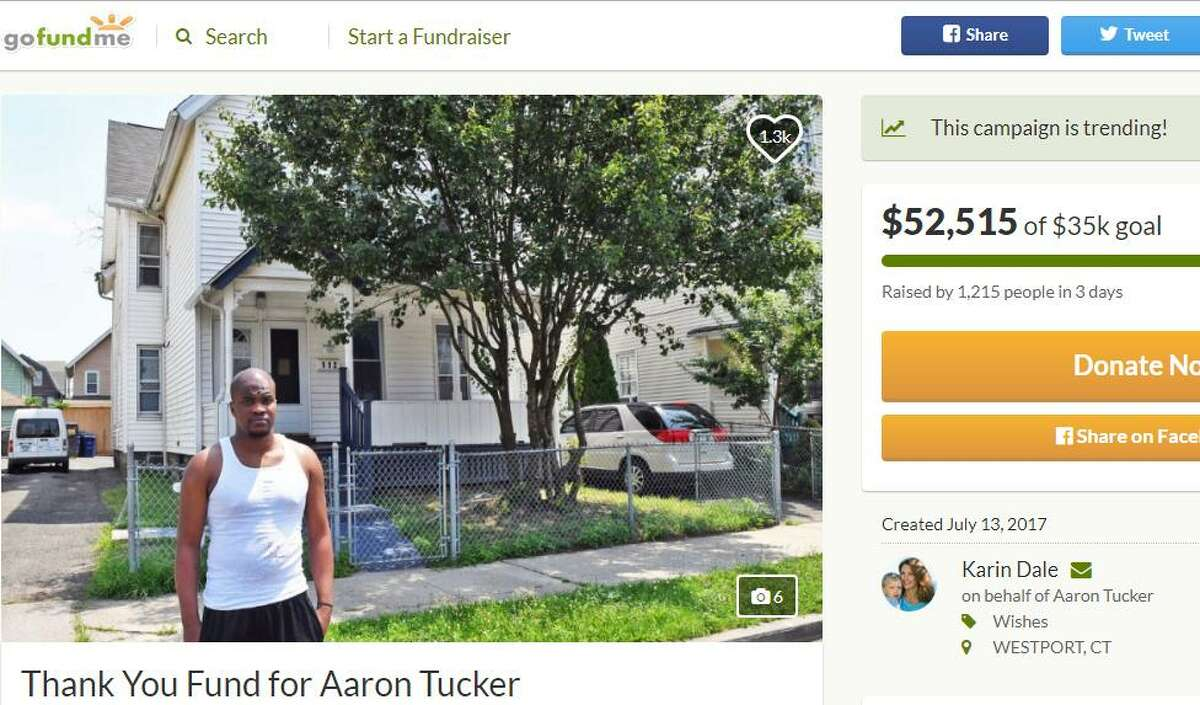 Aaron Tucker poses for a photo posted on social media, later used by supporters as part of a crowd funding campaign.