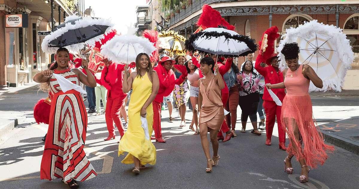 Regina Hall, Jada Pinkett Smith, Queen Latifah and Tiffany Haddish in 'Girls Trip'. (Universal Pictures)