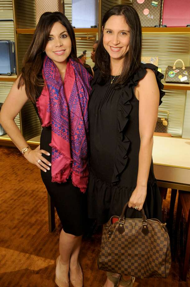 Marissa Gutierrez and Lisa Spence at the release party for the Tambour Horizon watch at the Louis Vuitton store in the Galleria Tuesday July 11, 2017. (Dave Rossman Photo) Photo: Dave Rossman/For The Chronicle, Louis Vuitton