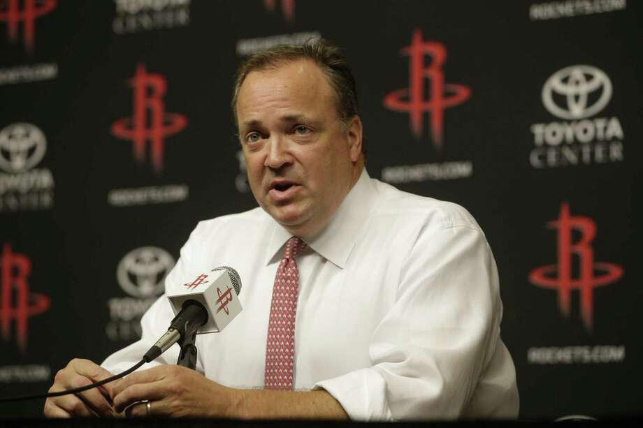 Tad Brown, Houston Rockets CEO, announces during media conference at Toyota Center Monday, July 17, 2017 in Houston that owner Les Alexander is selling the NBA team. Photo: Melissa Phillip / Houston Chronicle 2017