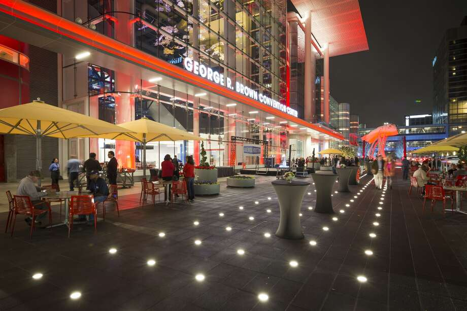 Houston First Corp. backed a $175 million plan to create a more pedestrian-friendly plaza in front of the George R. Brown Convention Center. Photo: Wulfe And Co.