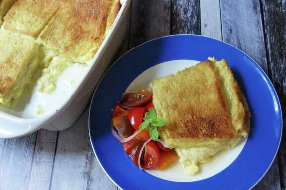 Cheese Sandwich Soufflé is simple to prepare.