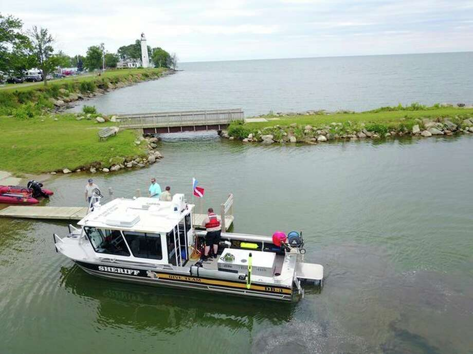 Rescuers were on the waters near Lighthouse County Park on Monday, searching for a missing kayaker from St. Clair Shores.