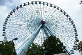 The Texas State Fair's 21-story Ferris wheel provides a bird's-eye view of the fairgrounds and downtown Dallas.