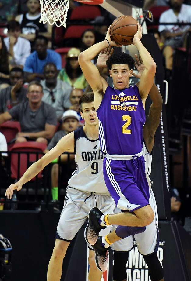 Point guard Lonzo Ball, the No. 2 overall pick in the NBA draft, led the Lakers into the Summer League title game. Photo: Ethan Miller, Getty Images
