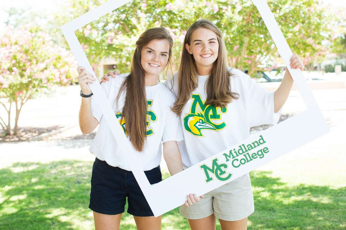Sarah Cooley, left, and her sister, Emily, graduated from Midland College in May. They plan to enter nursing school at Texas A&M University.