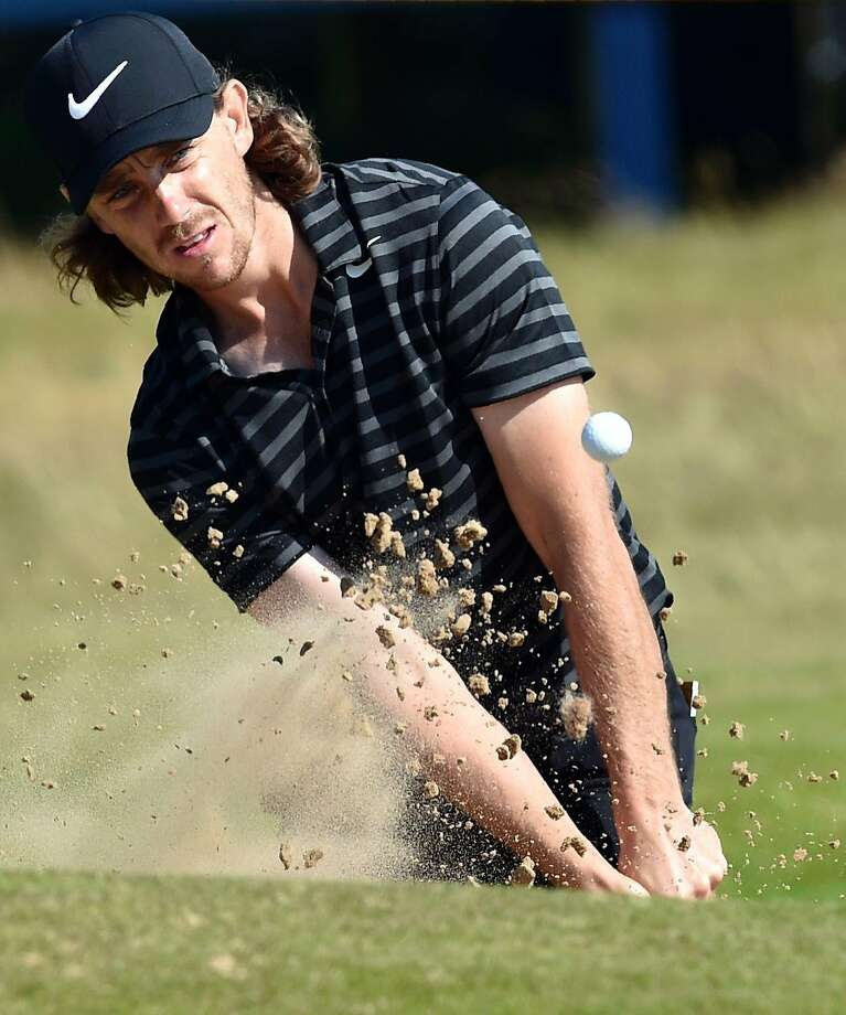 Tommy Fleetwood plays a practice round at Royal Birkdale. Photo: ANDY BUCHANAN, AFP/Getty Images