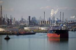 A tanker leaves Citgo's refinery in Corpus Christi. The Port of Corpus Christi's Commission chairman penned a letter to president Trump requesting that he take oil sanctions against Venezuela's energy industry off the table, saying it will hurt American business.