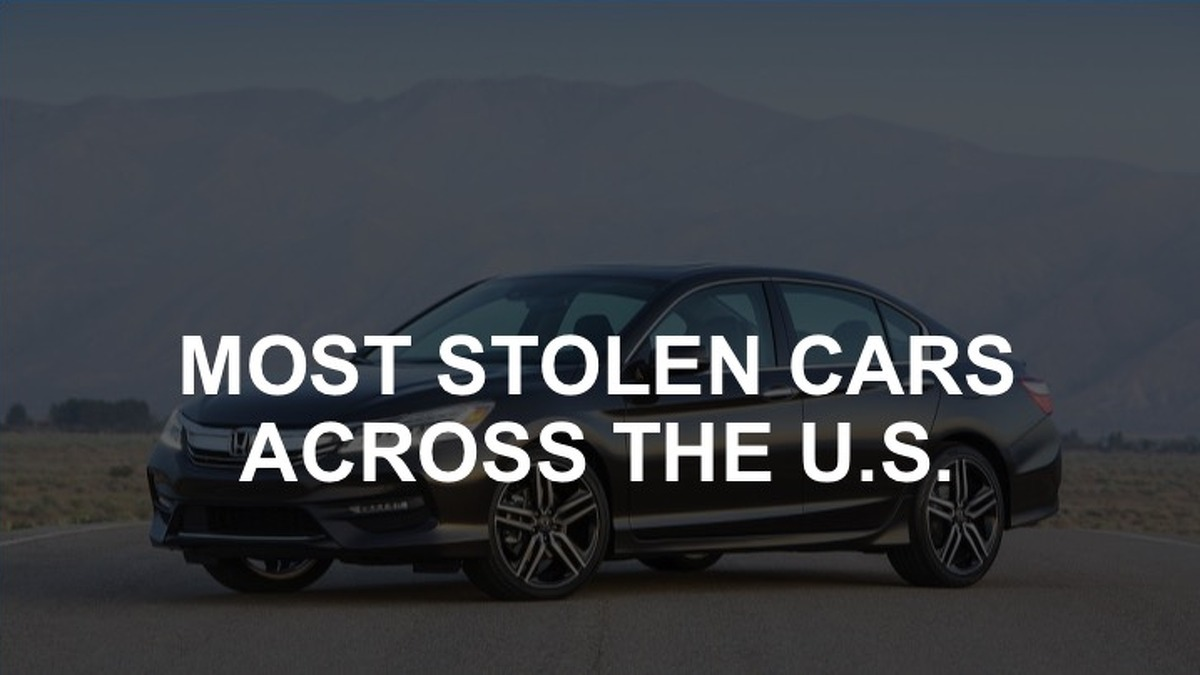 Here's a look at the 10 car models most stolen across the United States in 2016, as ranked in a National Insurance Crime Bureau released July 12.