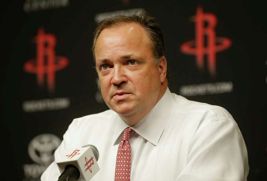 Tad Brown, CEO of the Houston Rockets, annouces that owner Les Alexander is selling the NBA team shown during media conference at Toyota Center, 1510 Polk Street, Monday, July 17, 2017, in Houston. ( Melissa Phillip / Houston Chronicle ) Photo: Melissa Phillip, Staff / © 2017 Houston Chronicle