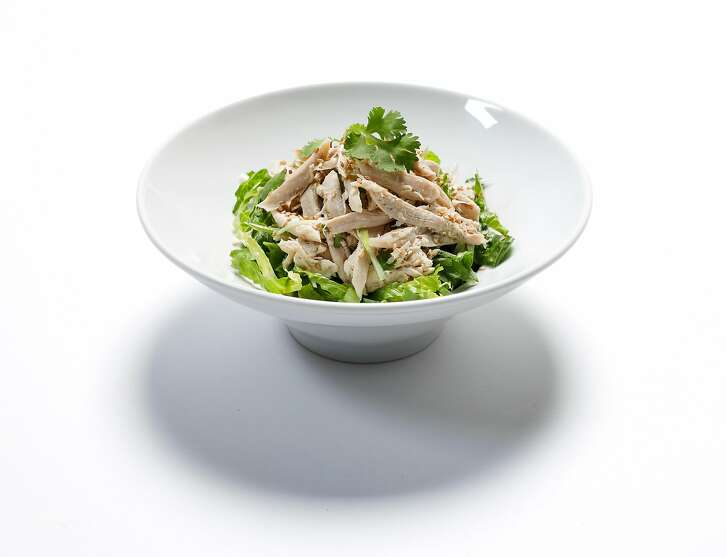 Johnny Kan�s Coriander Chicken Salad (So See Gai) seen on Tuesday, July 11, 2017 in San Francisco, Calif.
