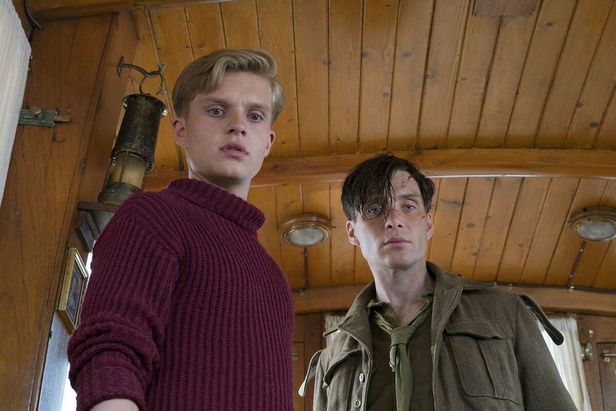 This image released by Warner Bros. Pictures shows Cillian Murphy, right, and Tom Glynn-Carney in a scene from
