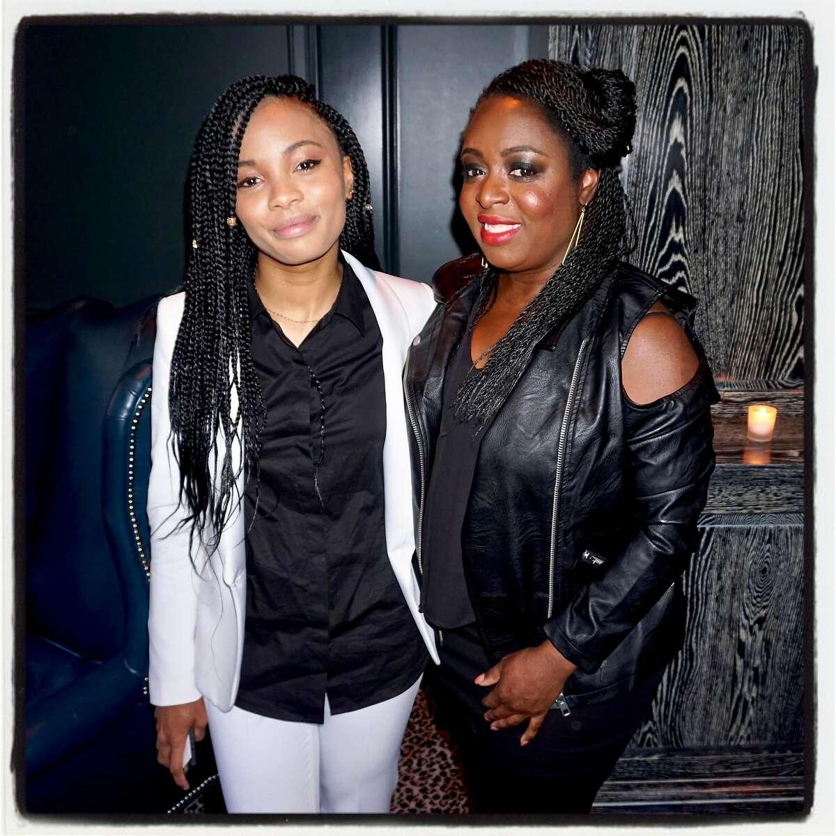 Kai Morton (left) and her mom, Black Girls Code founder Kimberly Bryant, at Wayfare Tavern. July 12, 2017.