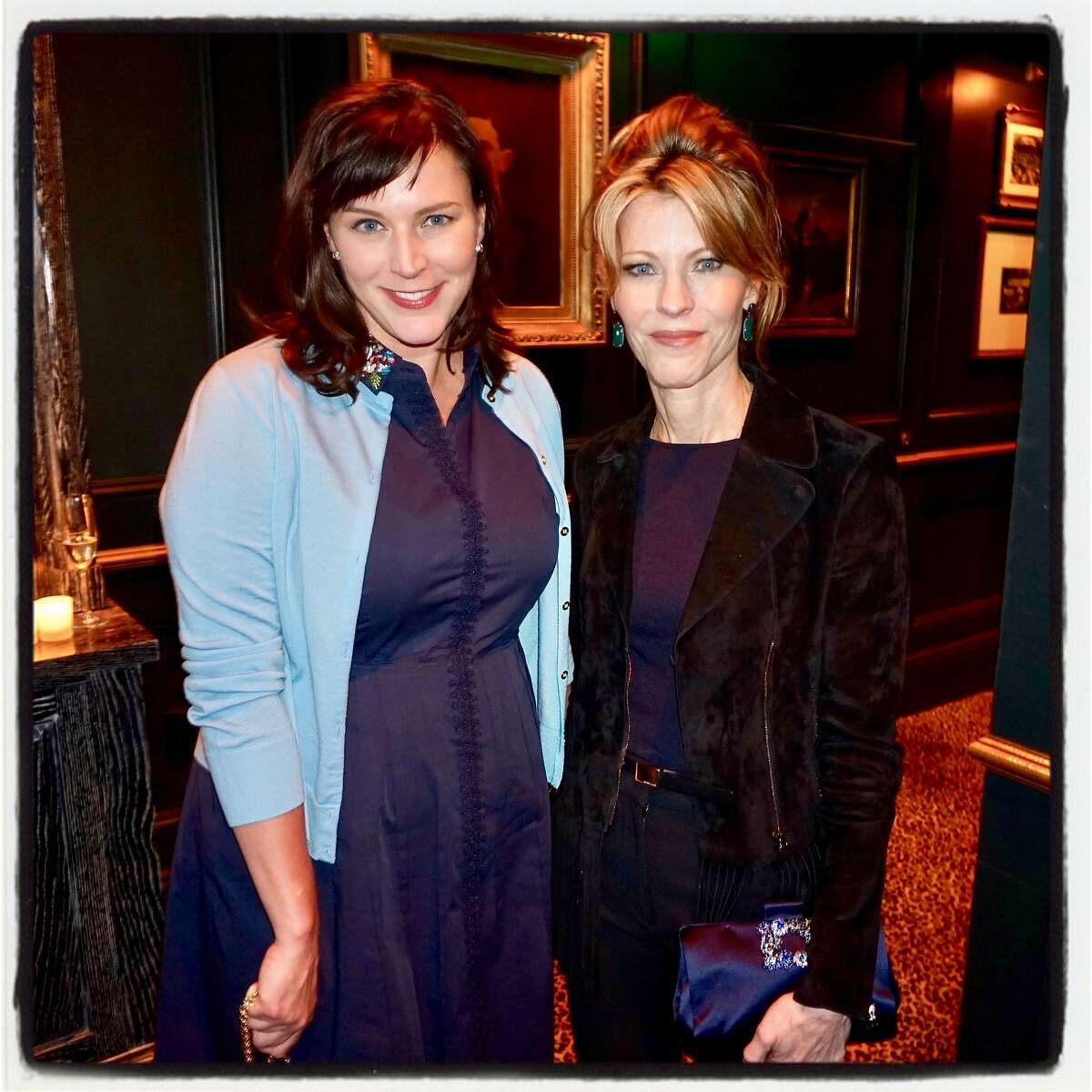 Chronicle Editor Audrey Cooper (left) and Elle Magazine editor Robbie Myers at Wayfare Tavern. July 12, 2017.