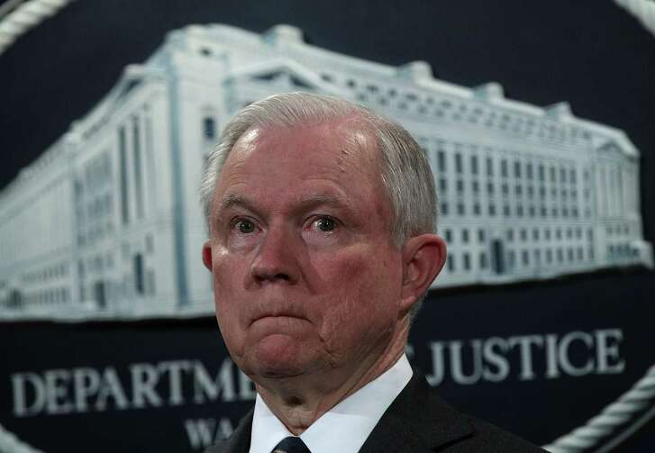 U.S. Attorney General Jeff Sessions listens during a news conference to announce significant law enforcement actions at the Justice Department in Washington, D.C.   (Photo by Alex Wong/Getty Images)