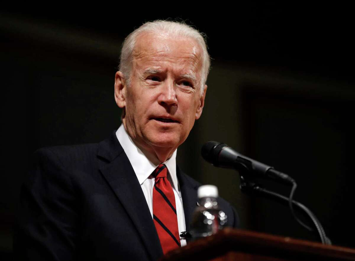 FILE - In this March 13, 2017 file photo, former Vice President Joe Biden speaks during an event to formally launch the Biden Institute at the University of Delaware, in Newark, Del.