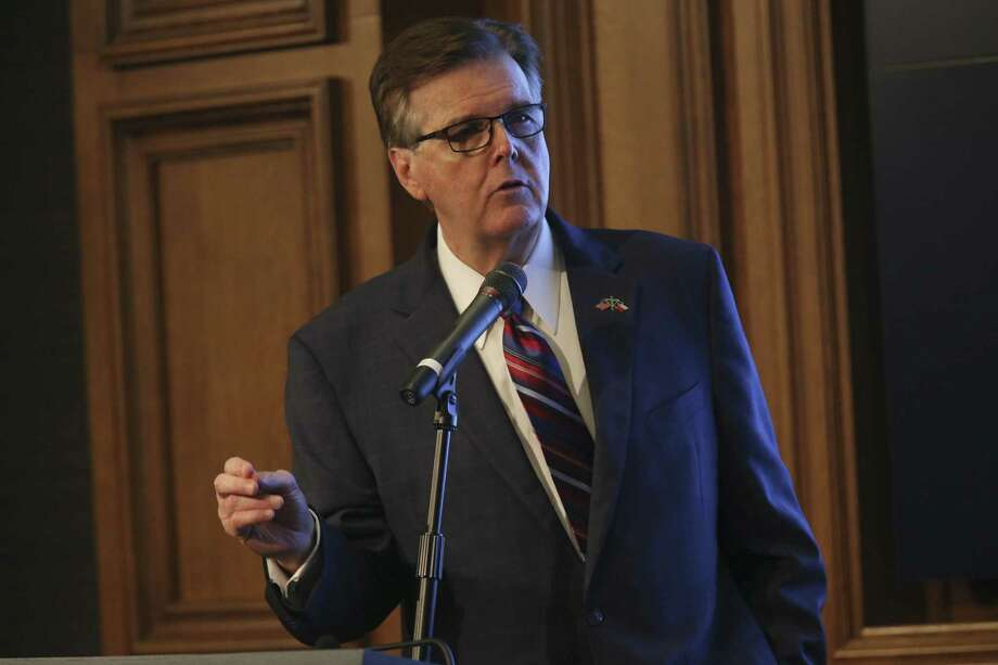 Texas Lt. Gov. Dan Patrick speaks at the Texas Public Policy Foundation's Policy Orientation for the Special Session on Monday. Patrick has proposed bonuses for teachers, but really needs to concentrate on adequate school funding generally. Photo: JERRY LARA /San Antonio Express-News / San Antonio Express-News