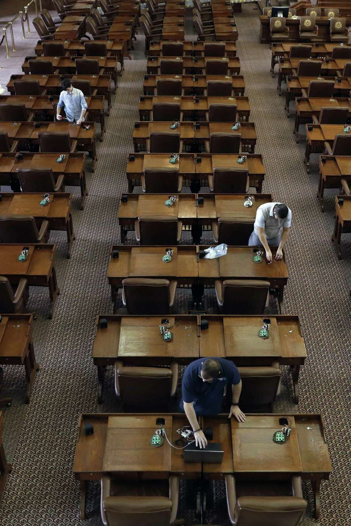 The House and Senate will gavel in at 10 a.m. today for the special session. Since special sessions can run for no more than 30 days, lawmaker have until Aug. 16 to finish Gov. Greg Abbott's to-do list. Shown is the House Chamber at the Texas Capitol.