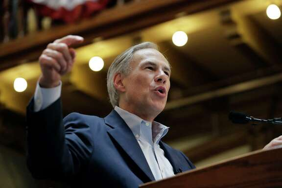 Texas Gov. Greg Abbott speaks at an event where he announced his bid for re-election, Friday, July 14, 2017, in San Antonio. (AP Photo/Eric Gay)