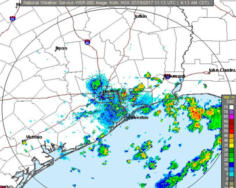 More scattered showers are expected Tuesday.The week should clear up nicely with warmer weather by the weekend.   >>Click to see things to do in Houston this week. Photo: National Weather Service Houston