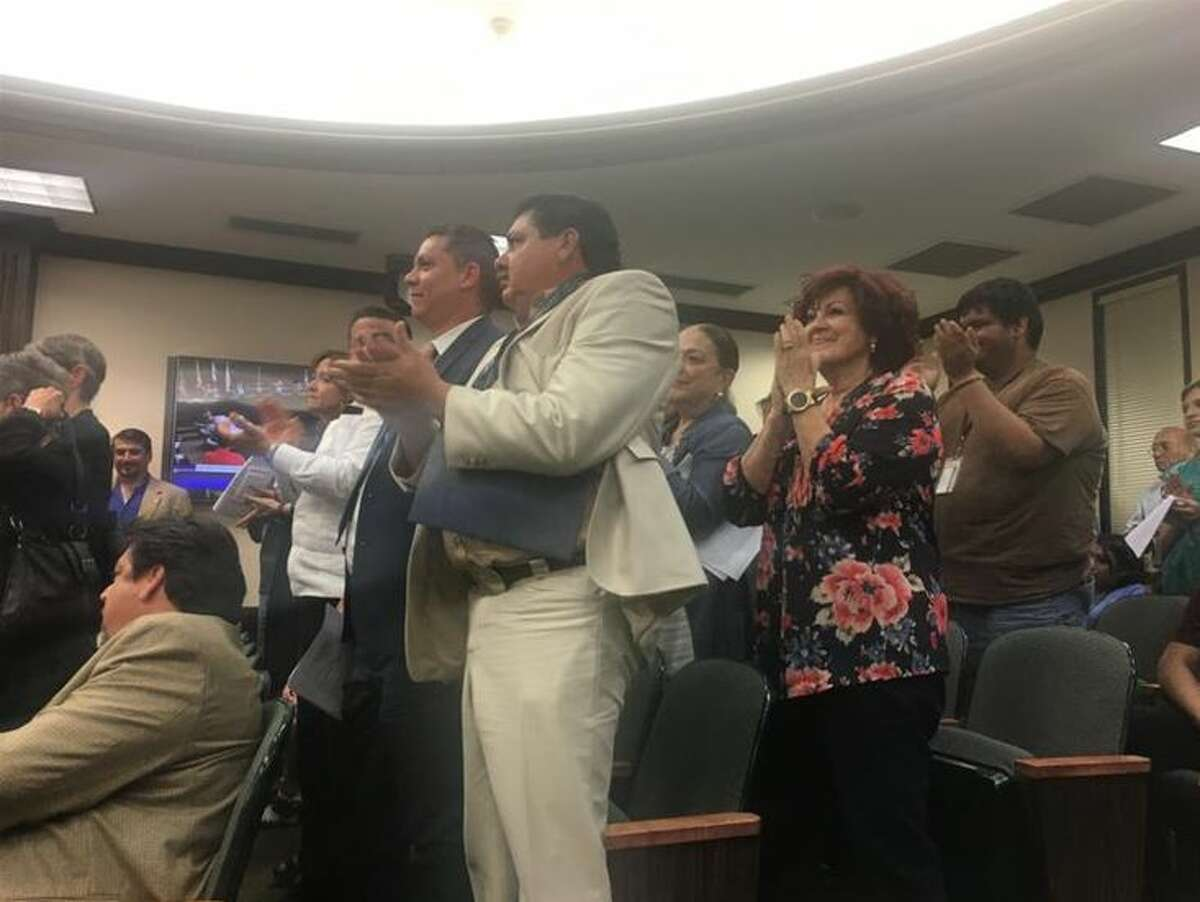 Those who attended the Laredo City Council meeting on Monday gave a standing ovation after it voted to join the lawsuit against Senate Bill 4.