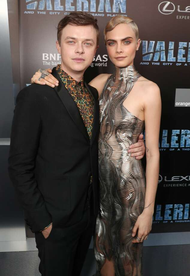 """HOLLYWOOD, CA - JULY 17:  Dane DeHaan and Cara Delevingne attend the premiere of EuropaCorp And STX Entertainment's """"Valerian And The City Of A Thousand Planets"""" at TCL Chinese Theatre on July 17, 2017 in Hollywood, California.  (Photo by Todd Williamson/Getty Images) Photo: Todd Williamson/Getty Images"""