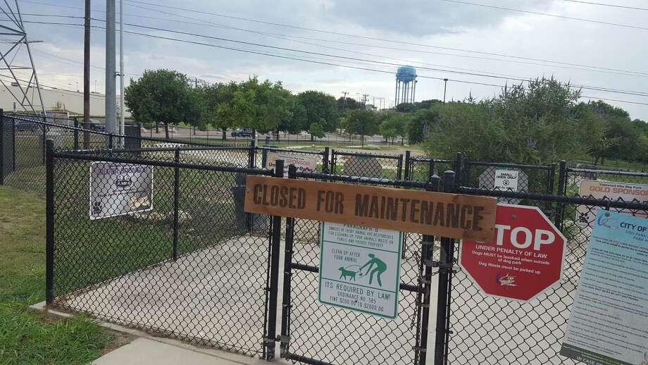 The Universal Citydog park on Athenian Boulevard was forced to close because of a canine flu outbreak. Photo: Jeff B. Flinn / Northeast Herald