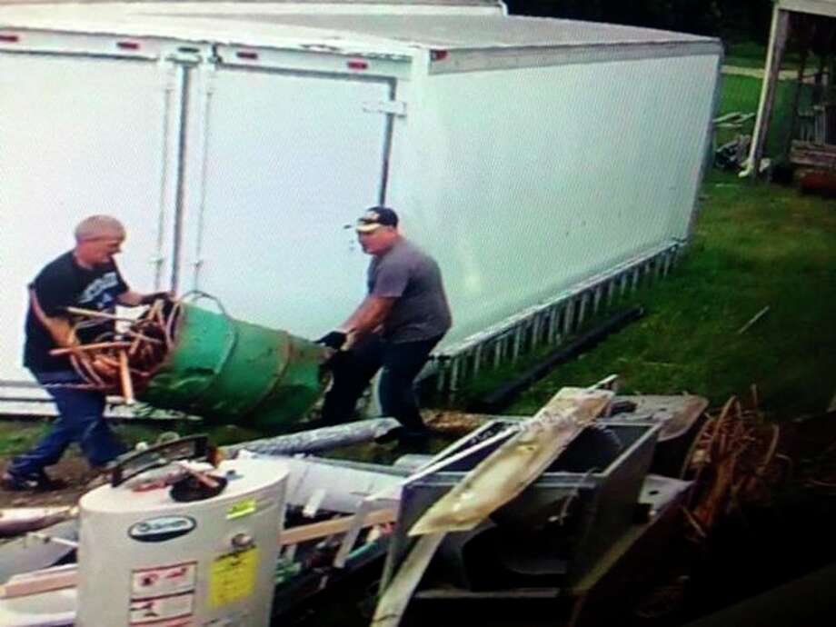 The Sanilac County Sheriff's Office is looking for the two suspects above.