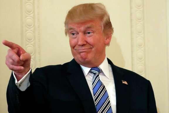 El presidente  Donald Trump en un evento para promocionar la manufactura nacional en la Casa Blanca en Washington el 17 de julio del 2017.