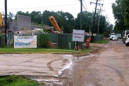 Construction crews build the future Super Walmart in Vidor on East Tram Road Monday.  Photo taken Monday, July 17, 2017 Guiseppe Barranco/The Enterprise