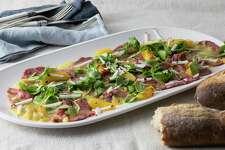 Beef Carpaccio Salad With Citrus-Chile Dressing.
